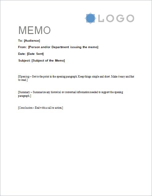 Download The Sample Memo Letter Template From VertexCom