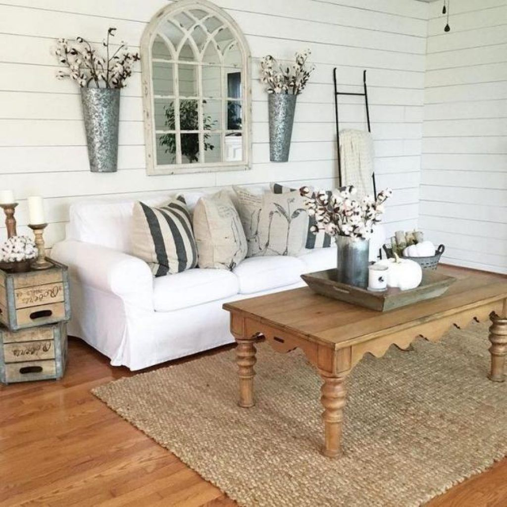 25+ Best Farmhouse Living Room Decorating Inspirations - Page 25 of 28 images