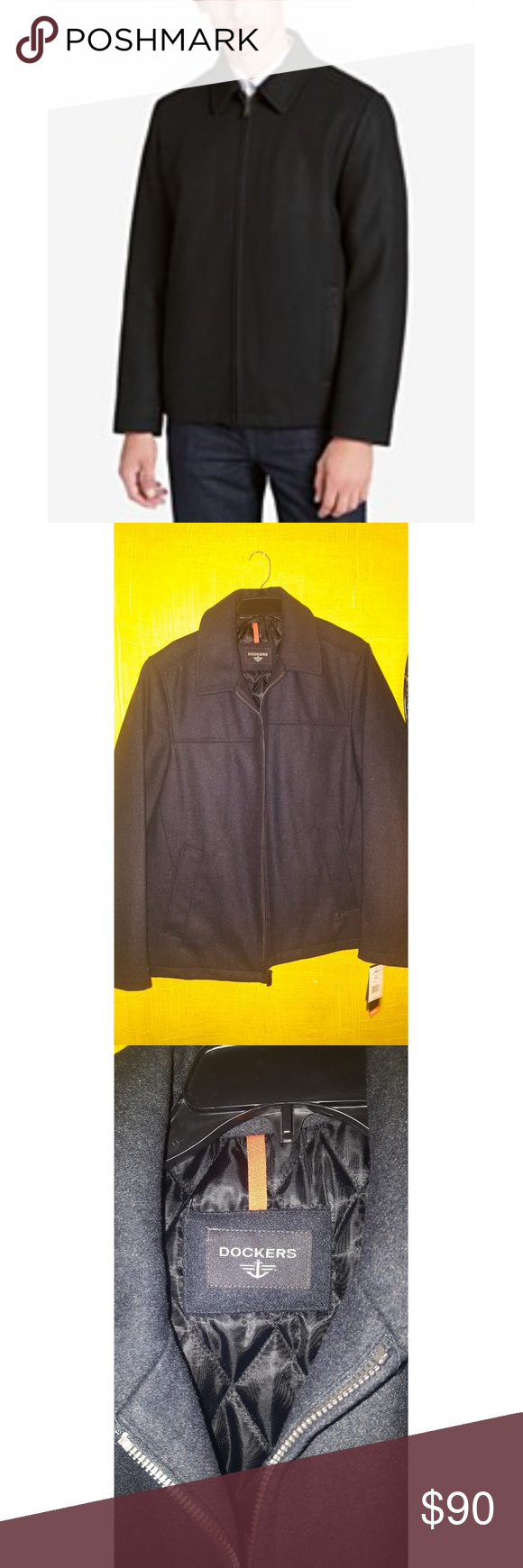 NWT DOCKERS MAN JACKET This men wool blend coat from