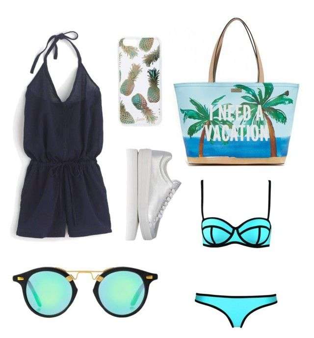 """""""Untitled #7"""" by anna-kinzel on Polyvore featuring J.Crew, Kate Spade, Sonix and Prada Sport"""