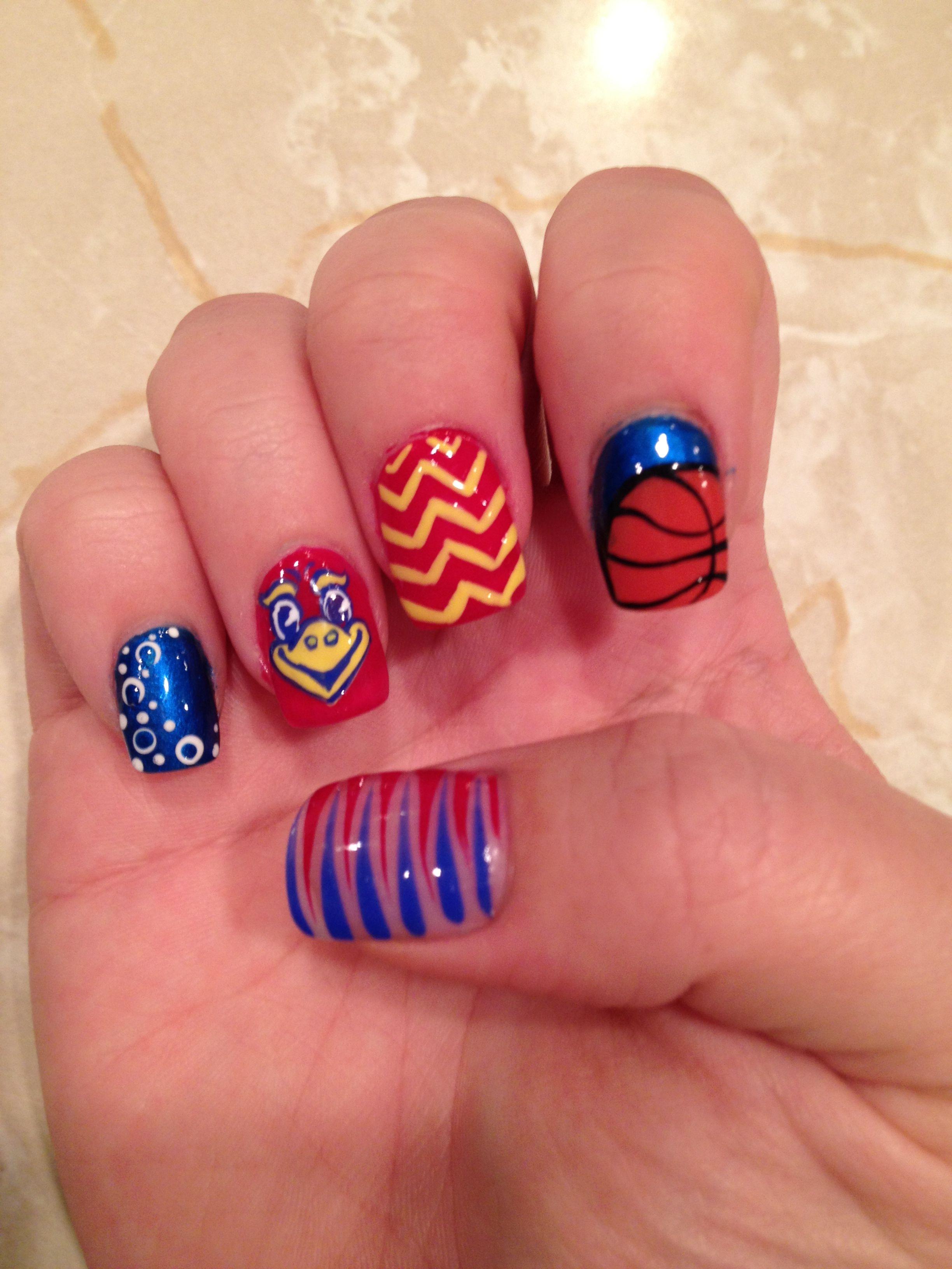 JAYHAWK!   hair & beauty   Pinterest   Shellac nail designs, Diva ...