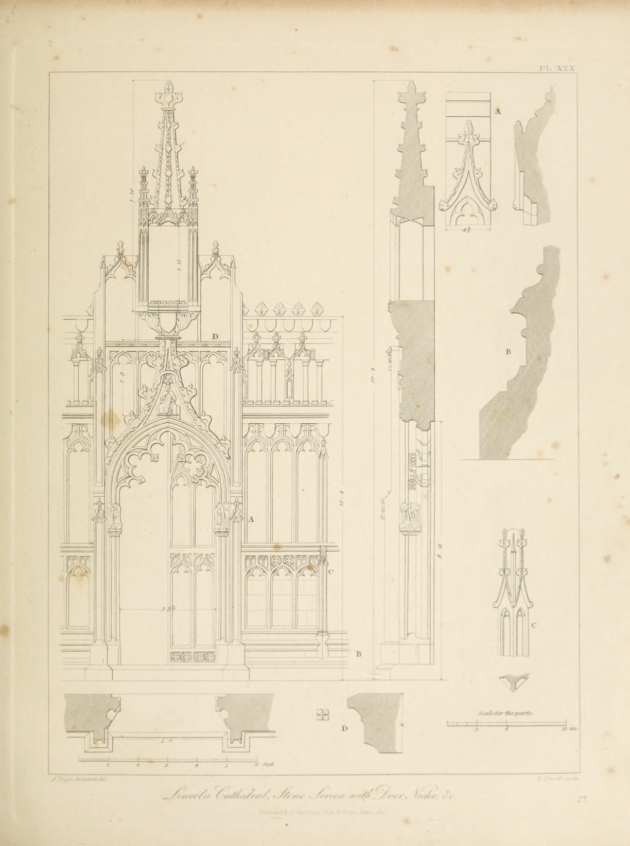 Architecture Specimens of Gothic architecture selected from
