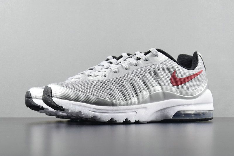 in stock 36b7a ee433 Men Nike Air Max Invigor Running Wolf Grey Red Black White 749680-004