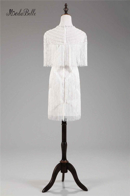 Modabelle simpel tassel short cocktail dresses lace pearl women