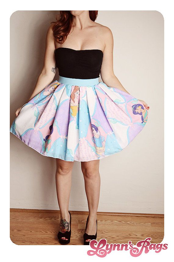 DISNEY Princess SKIRT Handmade Diy Bow High Waisted Birthday Party ...