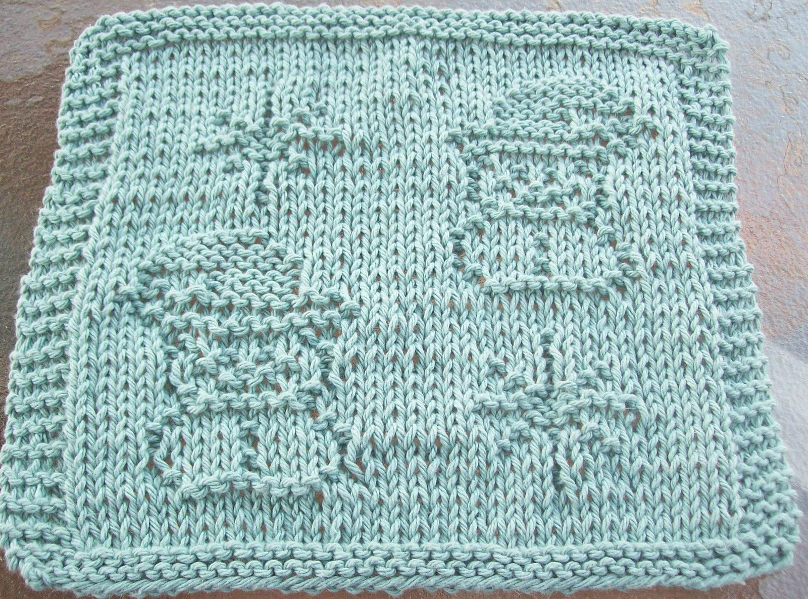 DigKnitty Designs: Snowmen and Snowflakes Knit Dishcloth Pattern ...