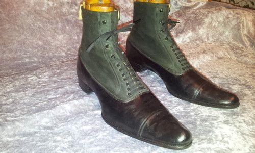 To 5 Shoes 10 Edwardian Vintage Us 1900s Boots Antique 10 Men 1880 qUVGzSpM