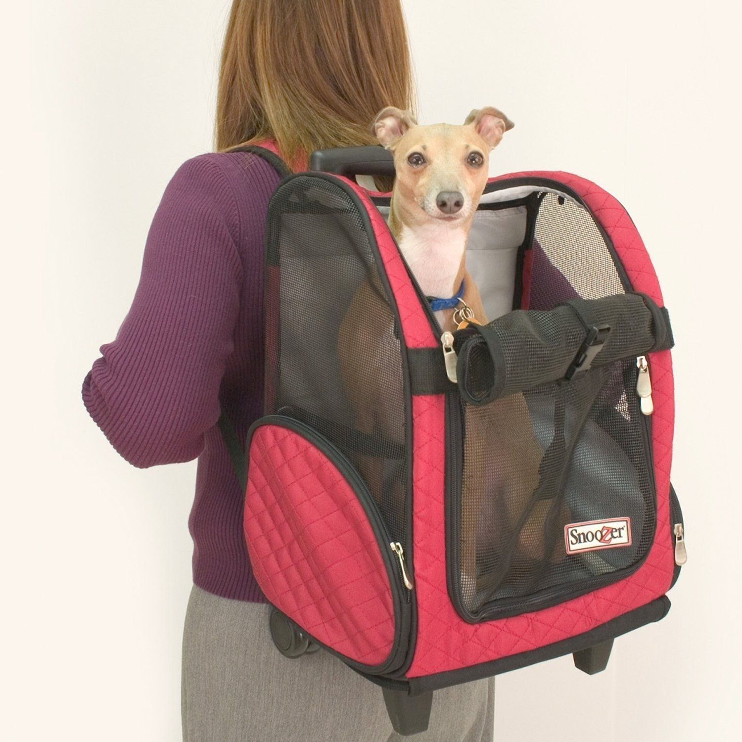 Roll Around Travel Dog Carrier Backpack Akc Dog Gear And