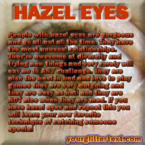 The meaning of hazel eyes