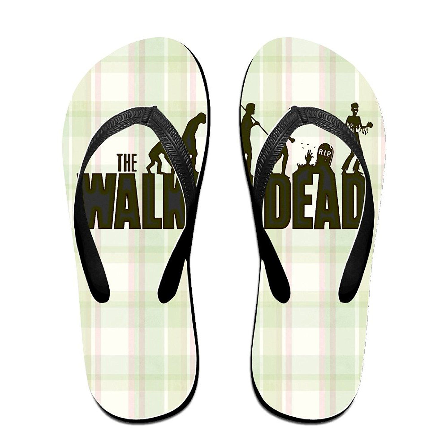 YYRBY Terror WalkingDead Beach Flip-Flops Slipper Sandals ** Click on the image for additional details.