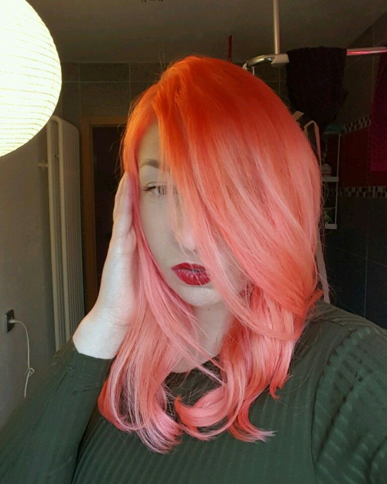 First Time Trying To Mix A Peachy Color Manicpanic Peach Pink