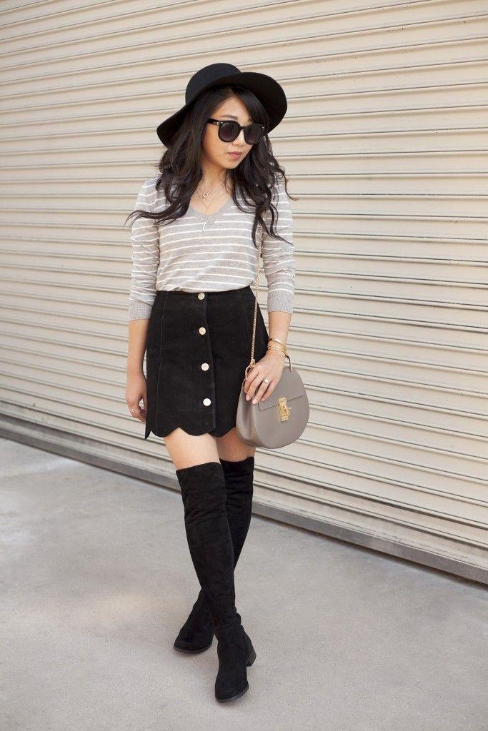 7da5b2c7185 poshclassymom-suede-button-front-skirt-boho-stuart-weitzman-5050-boots-chloe-drew-striped-top-flop-hat-black-and-gray  (5)