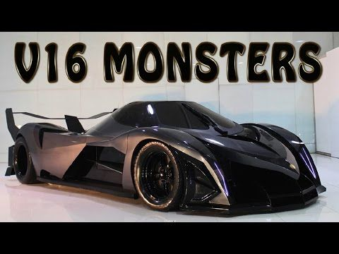 Top 9 Cars With 16 Cylinder Engine You