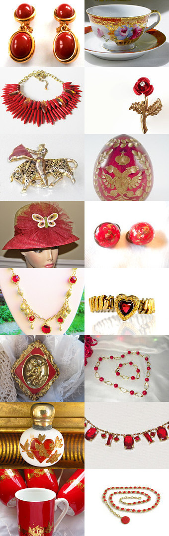 The Splendor of Red and Gold by Christine Behrens on Etsy--Pinned with TreasuryPin.com