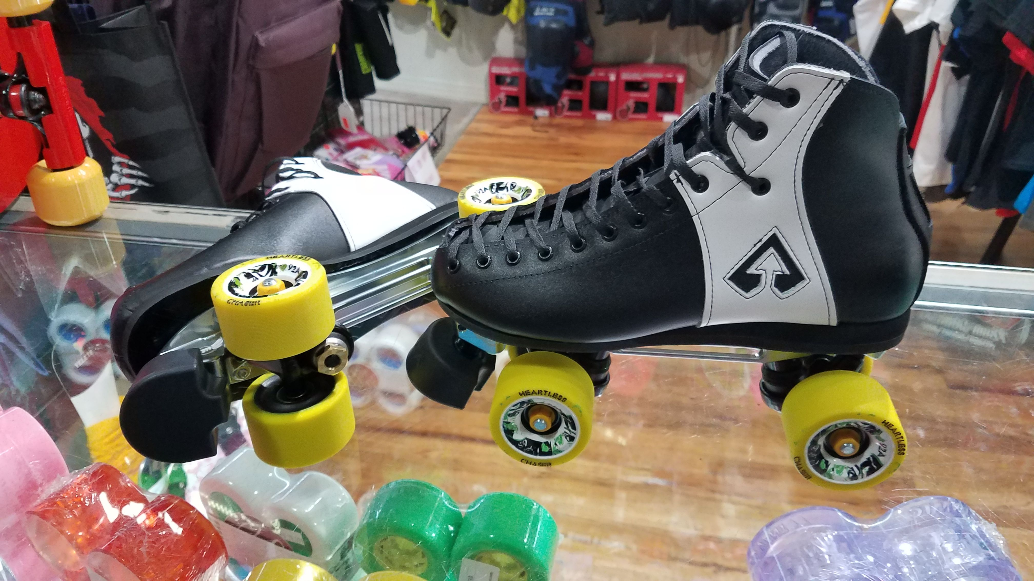 tennis shoes with roller skates built in