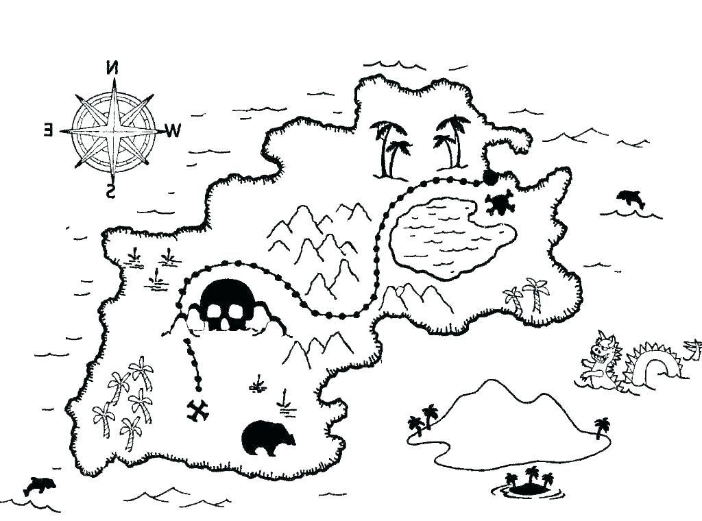 printable treasure maps treasure map coloring page ...