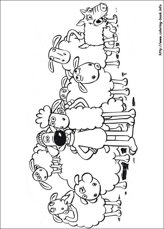 Shaun the Sheep coloring picture | Luka | Pinterest | Oveja shaun ...