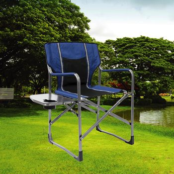 Foldable Directoru0027s Chair Side Table Garden Picnic Camping Lightweight  Outdoor In Sporting Goods, Camping U0026 Hiking, Camping Tables U0026 Chairs