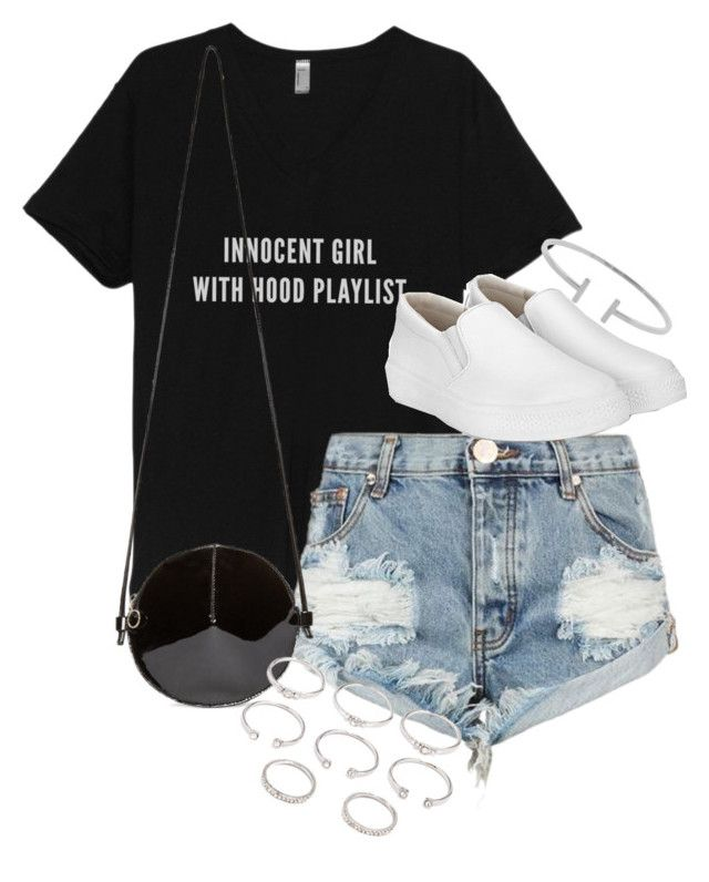 """""""Look with a t-shirt"""" by bisboringx ❤ liked on Polyvore featuring One Teaspoon, MM6 Maison Margiela, Forever 21 and Humble Chic"""