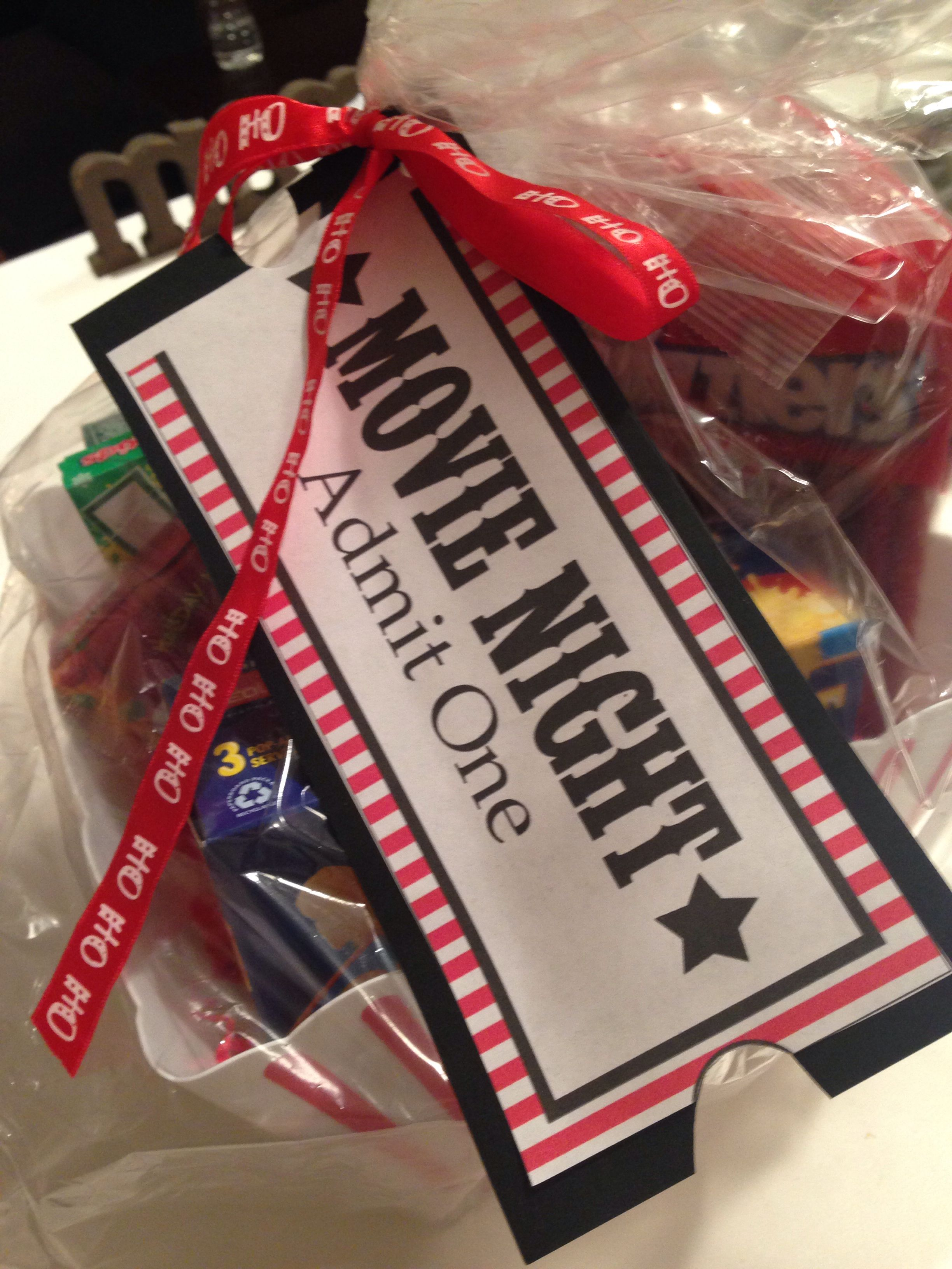 Family Movie Night Basket Auction Baskets Festival
