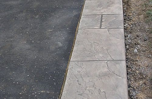Decorative Stamped Concrete Driveway Edging Driveway Edging Asphalt Driveway Stamped Concrete Driveway