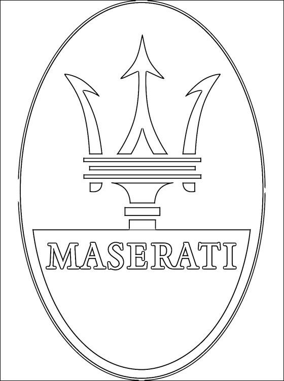 Maserati Logo Coloring Page Coloring Pages Super Coloring Pages
