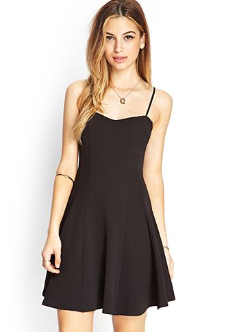 Textured Knit Skater Dress | FOREVER21 - 2000103034 nice and ...