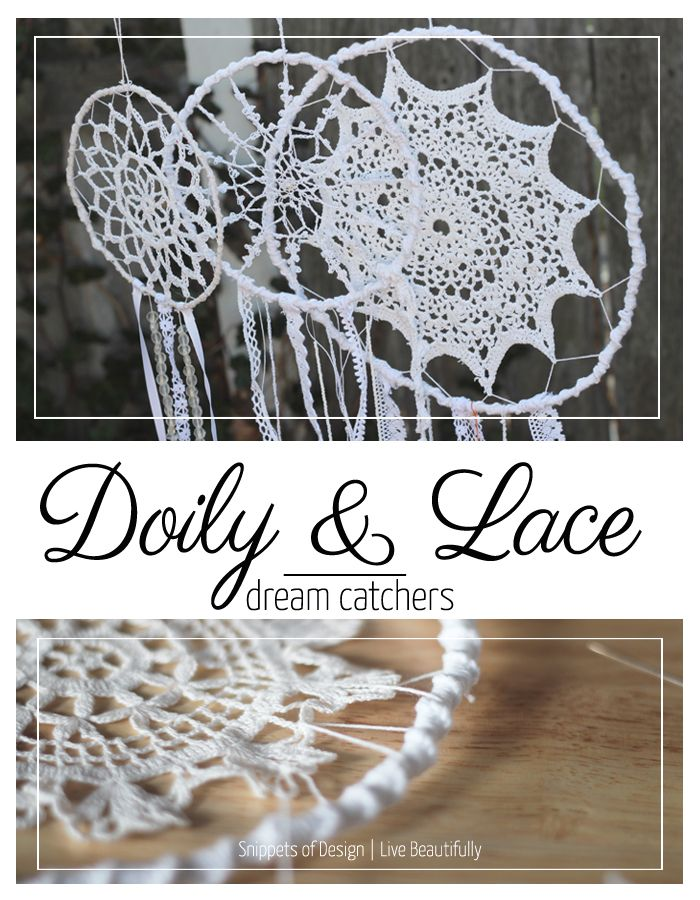 Doily And Lace Dream Catchers DIY Food Recipes Pinterest Lace Cool How To Make Doily Dream Catchers