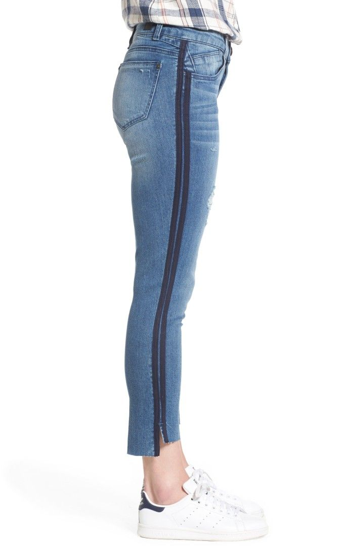 418cfe63 Wit & Wisdom Side Stripe Ankle Jeans (Nordstrom Exclusive) Double rows of  twill tape trim at the sides add a fun touch to skinny-cut jeans that are  right on ...