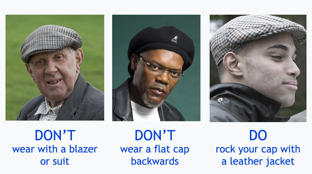 4a5f381f781 How to wear a flat cap for men. Also known as a golf cap or driving cap.