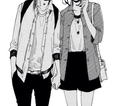 Anime couple black and white buscar con google