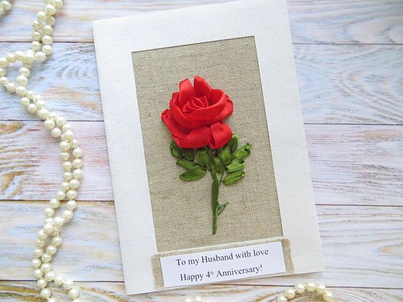 12th Anniversary Gift To Men Women Silk Anniversary Card To Him Her