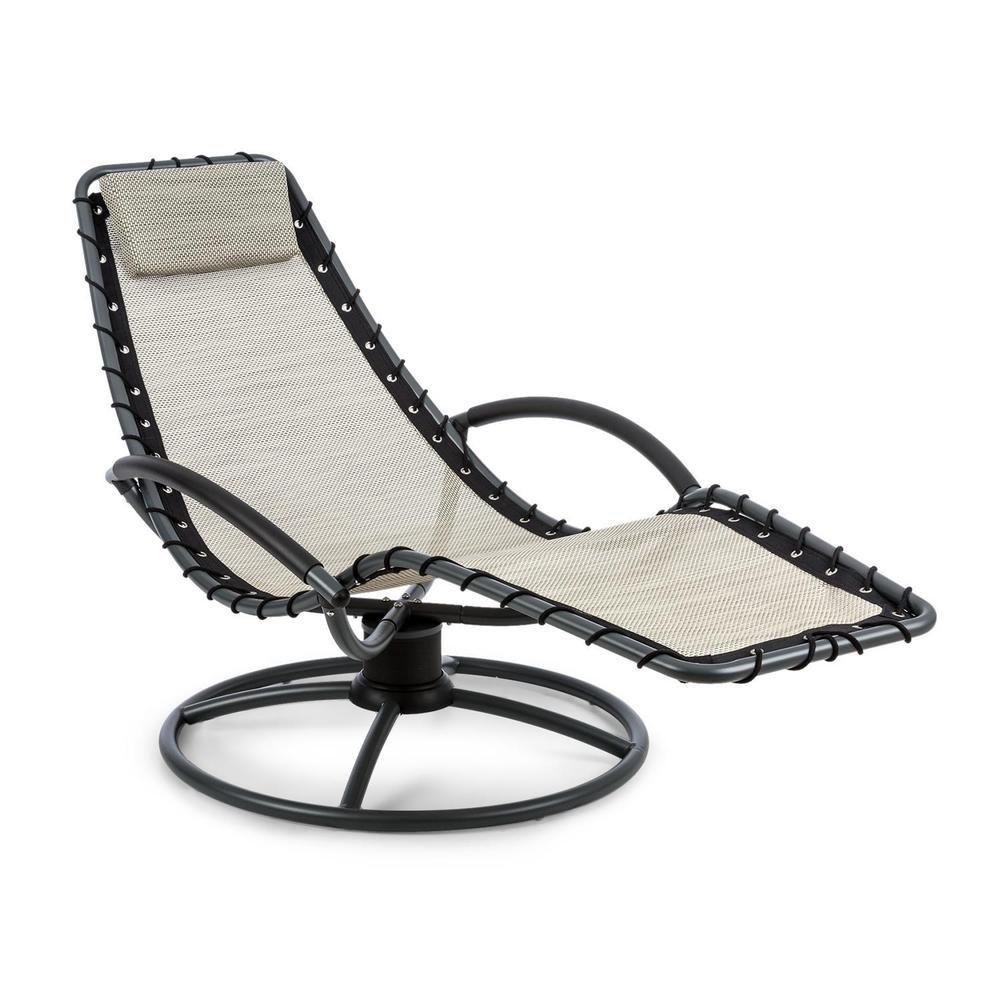 details zu schwingliege gartenliege sonnenliege relax liegestuhl