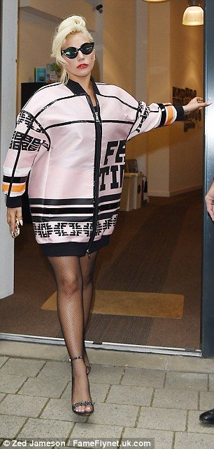 Twice as nice: Lady Gaga made quite the transformation on Tuesday as she exited her hotel ...
