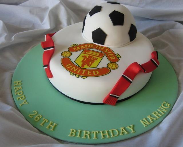 Cake Designs Of Football : MaKayla!!!!!!!!!!! Manchester United birthday cake ...