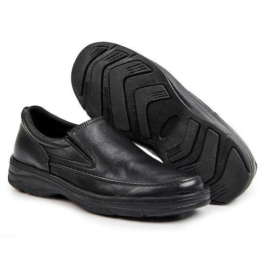 be40253acd Sapato Confort Pizaflex Masculino - Preto