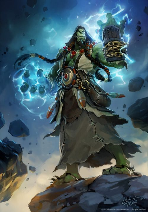 Antaresofwho Deactivated2015042 Artwork For The Master Hero Card Thrall The Earth Warder From The Tcg Set Tom World Of Warcraft Warcraft Art Character Art World of warcraft thrall wallpaper