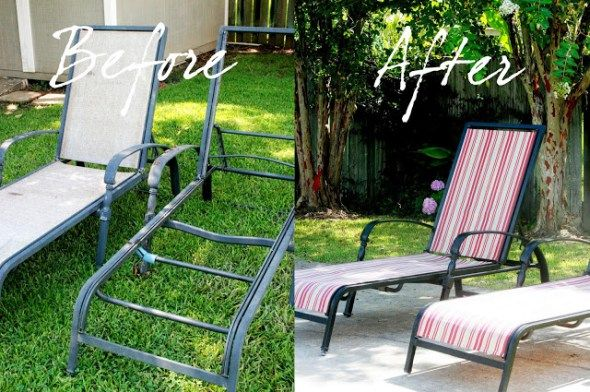 Recover Your Old Chaise Lounge Chairs Home Patio