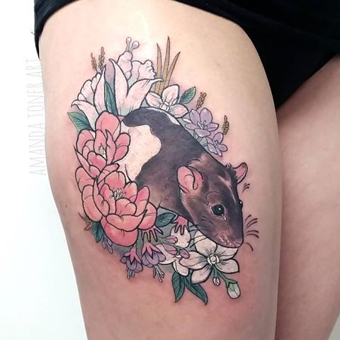 Possible Rex Or Law Prints Here Rat Tattoo Tattoos Mouse Tattoos