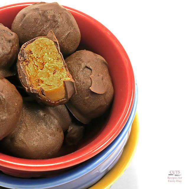 frozen chocolate peanut butter balls