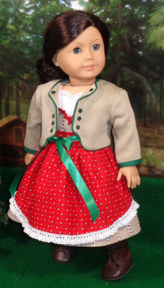 RESERVED>>>>>Holiday Dirndl and Jacket Set fits 18 Inch Dolls ...