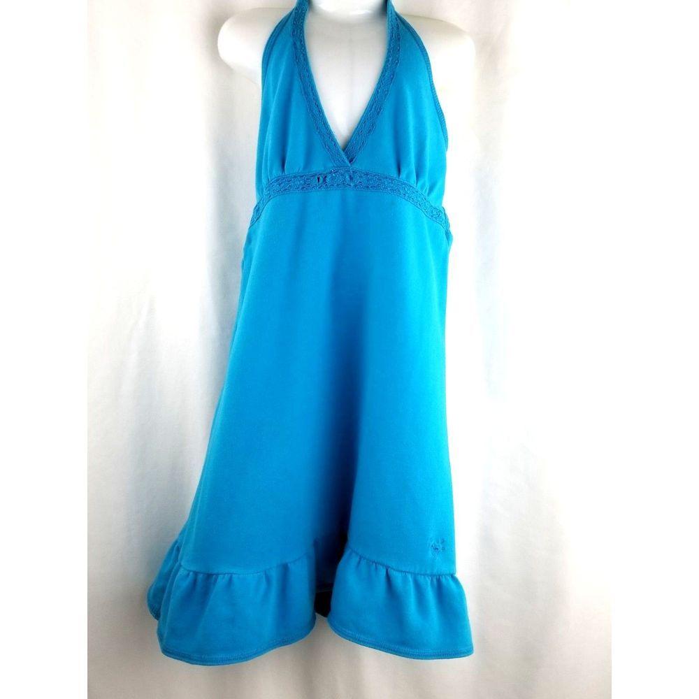 e059c196b5 JUSTICE SWIM Girls Halter Swim Dress Cover Up Turquoise Size 12 Swimwear  Crochet #Justice #CoverUp