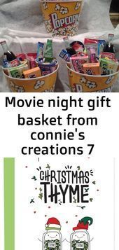 Movie night gift basket from connies cre… – #Basket #Connies #cre #Gift #Movie…