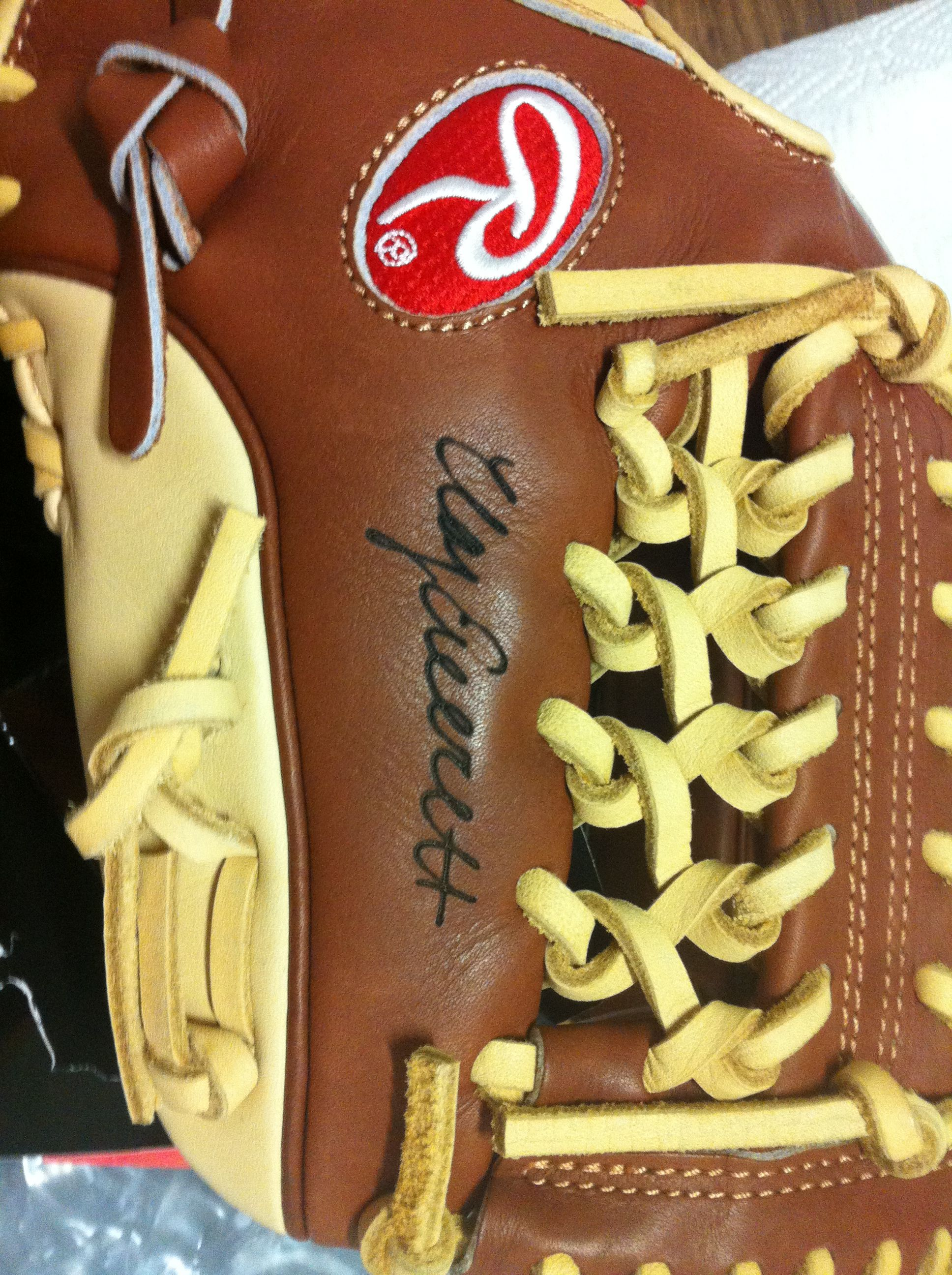 Here S A Cool Idea For The Baseball Lovers Provide Your Signature And We Will Engrave It On Your Glove How Awe Engraving Services Laser Engraving Engraving