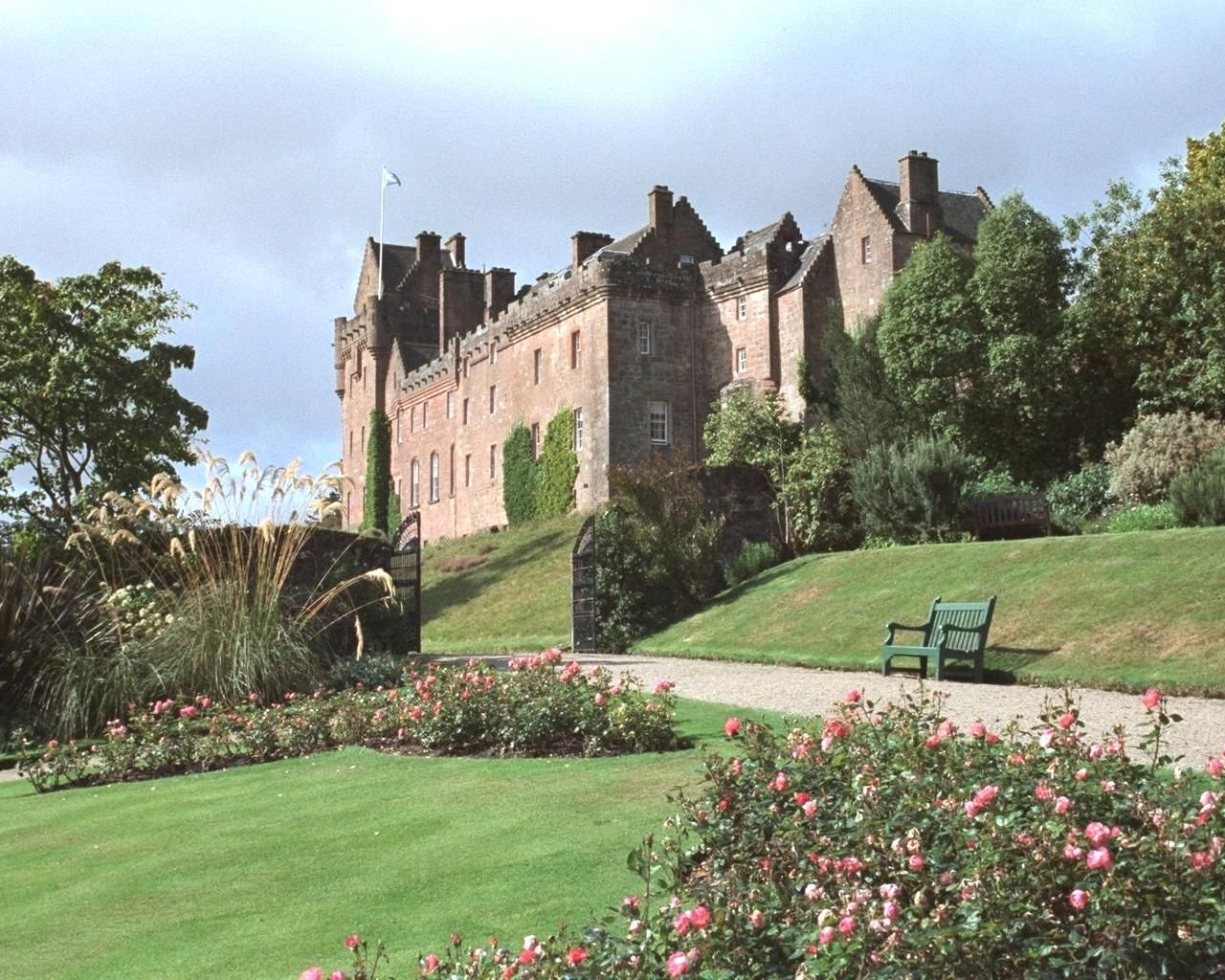 brodick castle | view from the walled garden towards Brodick Castle