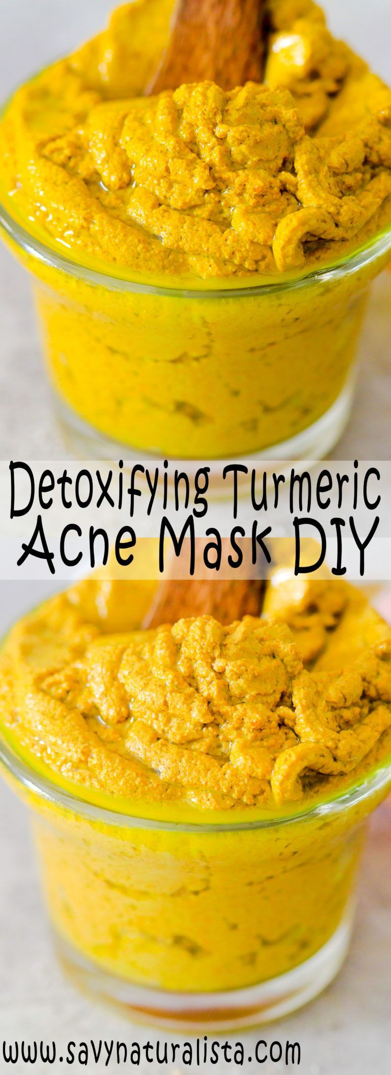 Detoxifying Turmeric Acne Face Mask Turmeric face mask
