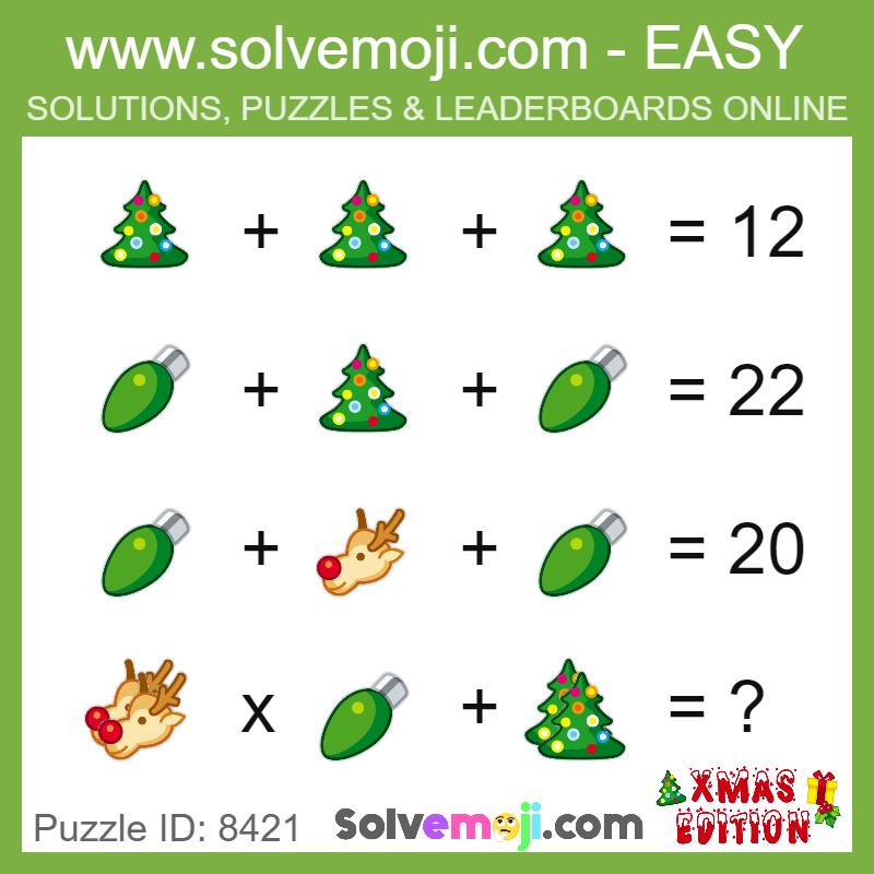 puzzle_8421 | Math Solvemojis | Maths puzzles, Math, Math games