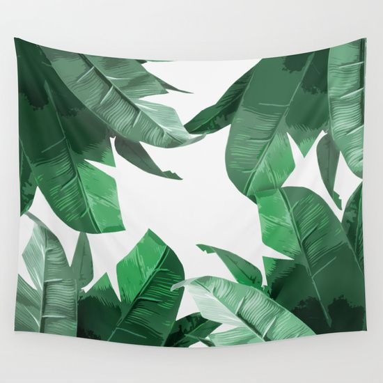 Tropical Palm Print Wall Tapestry by Tamsin Lucie - $39.00