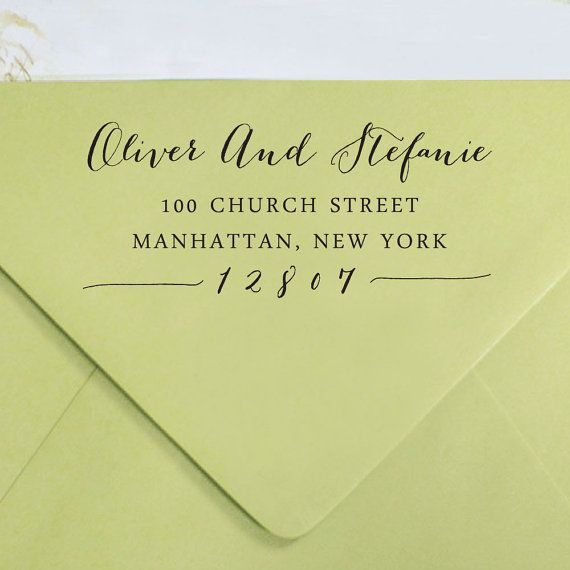 Custom Return Address Stamp, Self Inking Address Stamp, Custom Rubber Stamp, Personalized Rubber Stamp, Custom Calligraphy Stamp HS85P - Inkdotpot (Etsy)