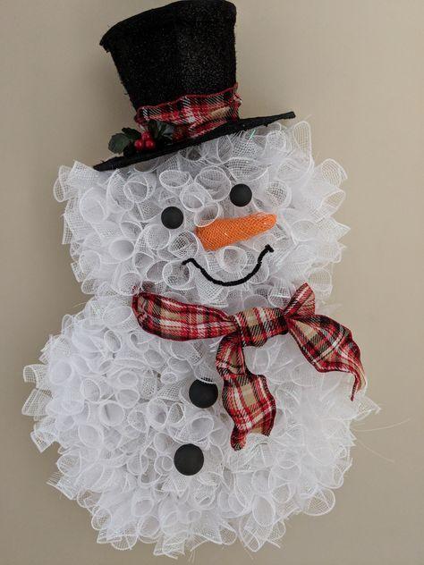 Photo of New diy christmas snowman wreath deco mesh ideas